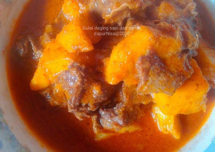 Gulai daging sapi dan nanas