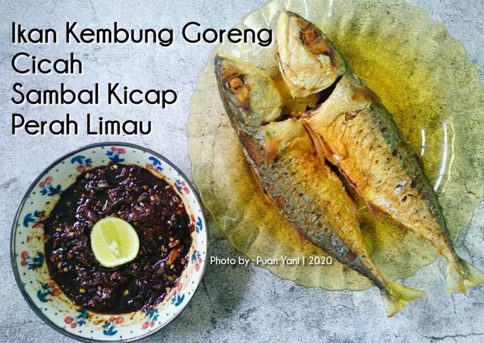 Ikan Kembung Goreng Cicah Sambal Kicap Perah Limau