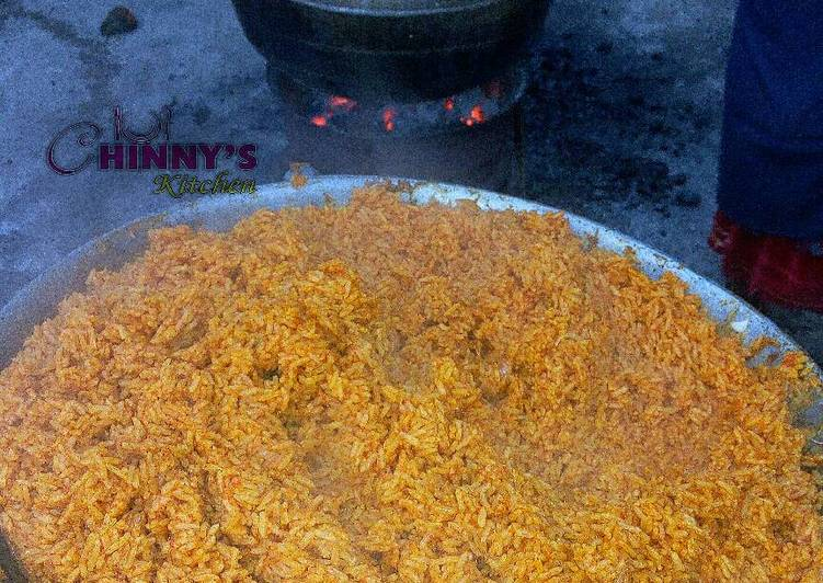Steps to Make Super Quick Homemade Fire wood Jollof rice