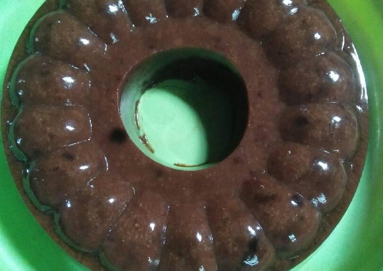 Puding Energen coklat