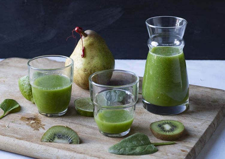 Recipe: Delicious Smoothie kiwi poire et épinard