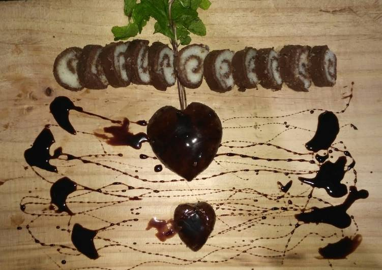 Recipe of Quick Chocolate coconut roll