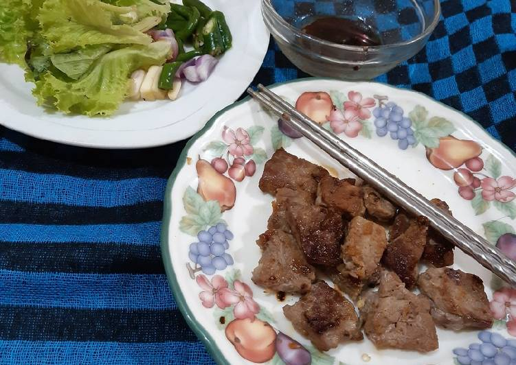 Resep Beef Bbq Ala Korea Homemade Oleh Iin Cookpad