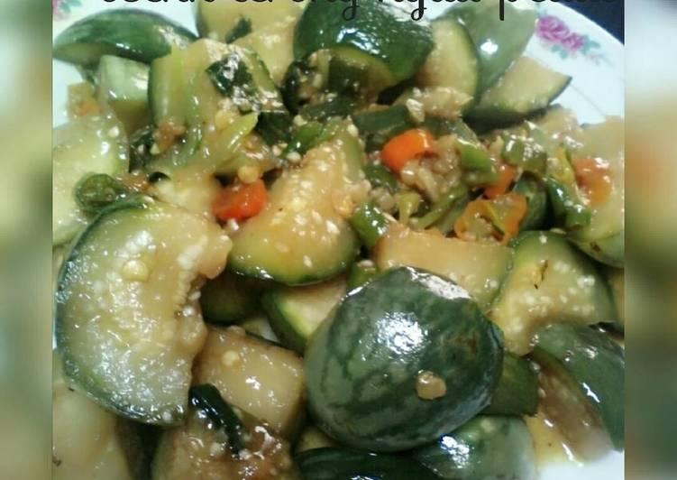 Resep Osenk terong hijau pedas