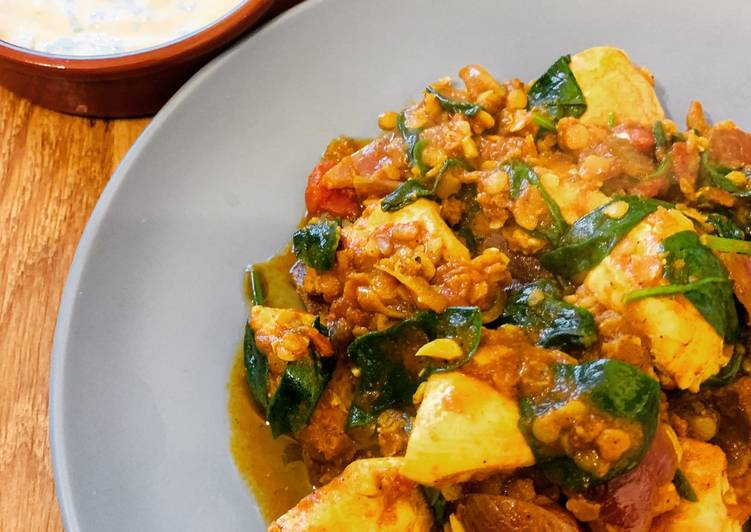 Chicken & Spinach Dhansak Curry