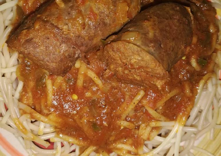 How to Cook Delicious Spaghetti and relish with wors