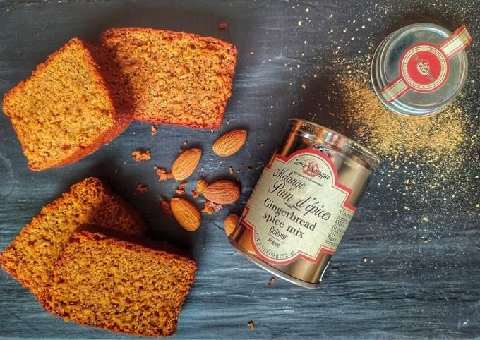 Pain d'épices Ig bas à la poudre d'amande et au son d'avoine