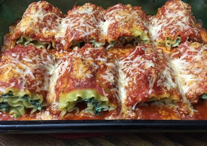 Spinach Lasagna Rolls * vegetarian *
