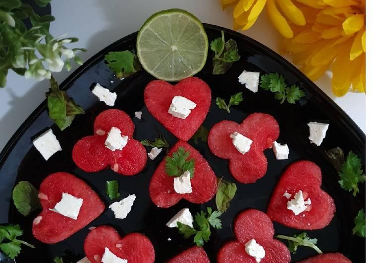 Easiest Way to Prepare Any-night-of-the-week Watermelon feta salad.