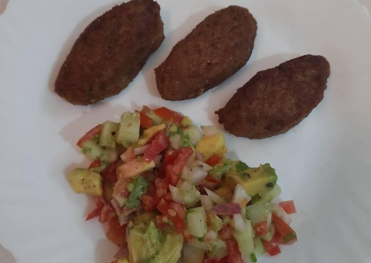 Chicken Keema Kakori Kebabs