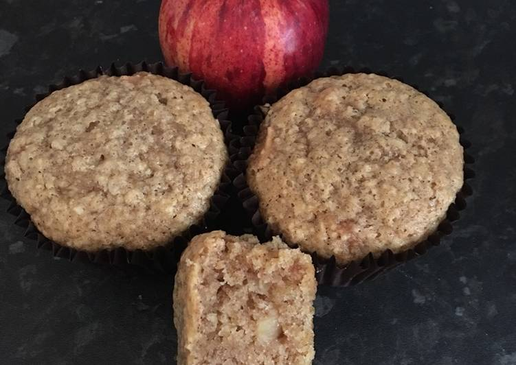 Recipe of Most Popular Eggless Apple muffins