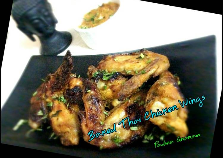 Recipe of Homemade Baked Thai Chicken Wings