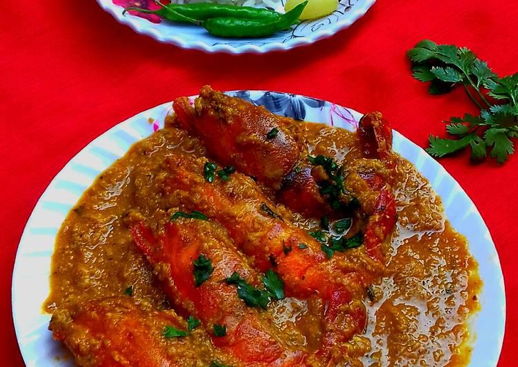Chingri macher Malai curry (lobster curry)