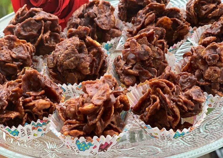 Roses des sables chocolat au lait et fruits de la passion😋