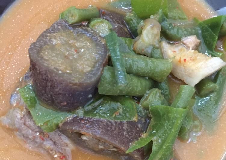 Lodeh terong kacang panjang tulangan ayam dengan fibercreme