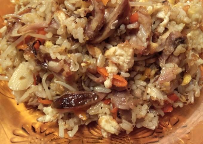 Nasi goreng putih (mirip nasi goreng Jawa)