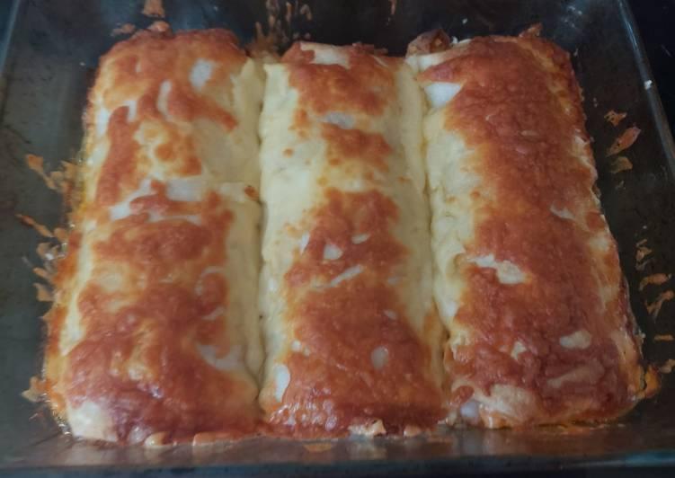 Steps to Make Super Quick Homemade My Salsa Enchiladas. 😘😘