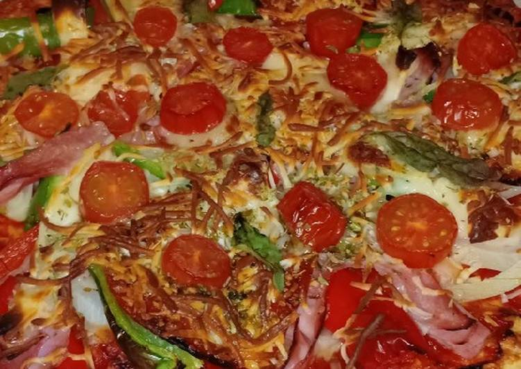 Pizza con base de pollo🇮🇹Keto/Sin Gluten/Low carb