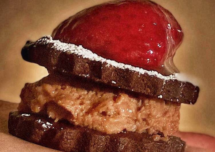 Steps to Prepare Homemade Chocolate Mousse Sandwiches