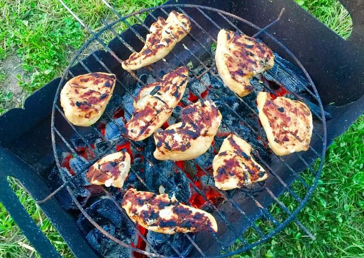 Шашлык из куриного филе с карри и горчицей