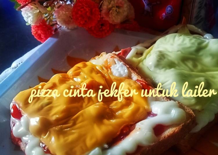 Cara Mudah Masak: Pizza cinta jekfer untuk lailer  Lazat