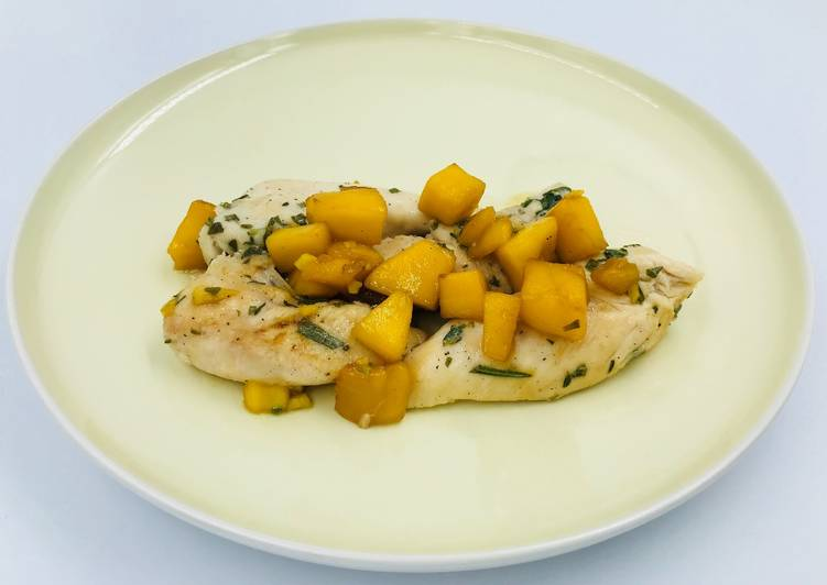 Chicken breast with mango