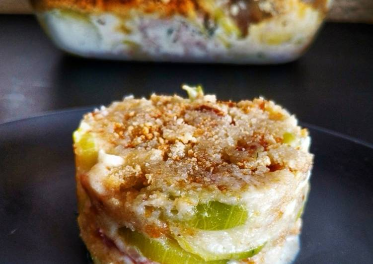 Easiest Way to Cook Yummy Crumble courgettes, chèvre et lardons