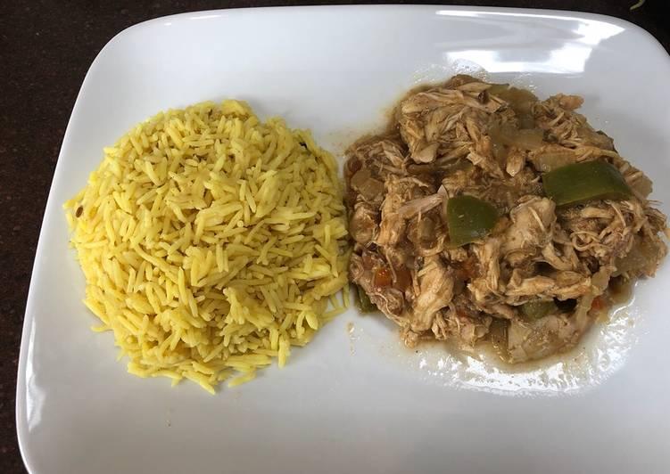 Shredded chicken curry