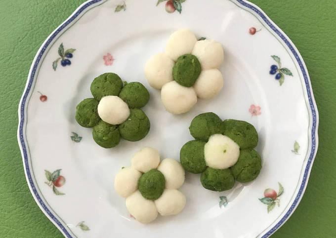 Wagashi comme le biscuit en pâte d'haricots et farine de riz