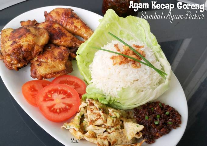 Ayam Kecap Goreng,Sambal Ayam Bakar