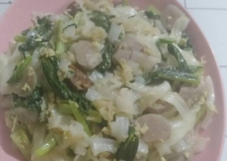 Kuetiaw goreng tanpa kecap