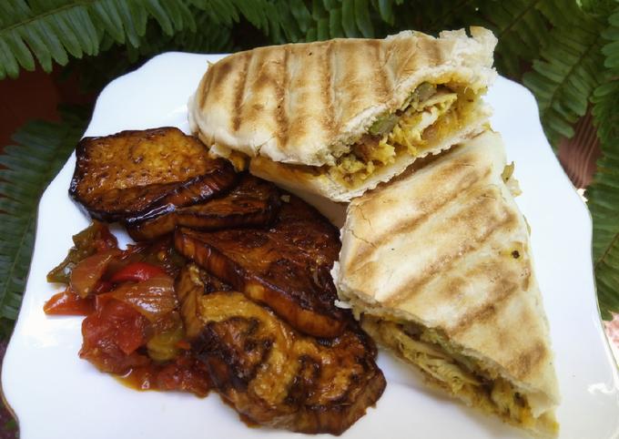 Panini shawarma accompagné de légumes d'été ❤
