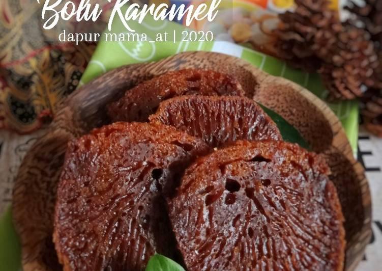 cara masak Bolu Karamel a.k.a. Bolu Sarang Semut - Sajian Dapur Bunda
