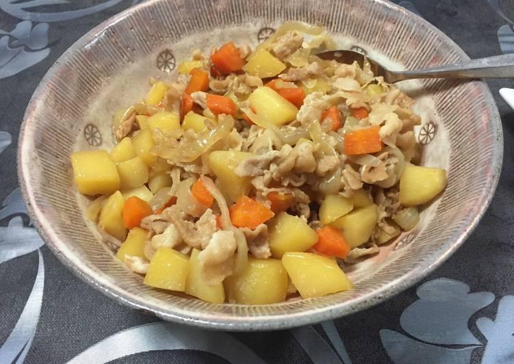 Japanese Nikujaga (Sliced pork and Potatoes)