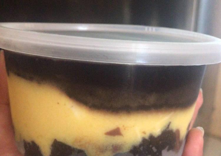 Lapis berendam (brownies mangga lumer) no mixer