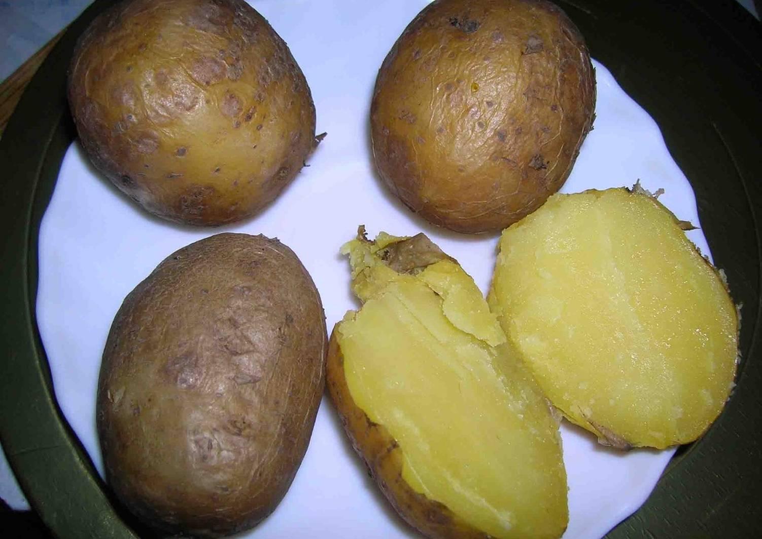 как сварить картофель в мундире фото рецепт количества баек