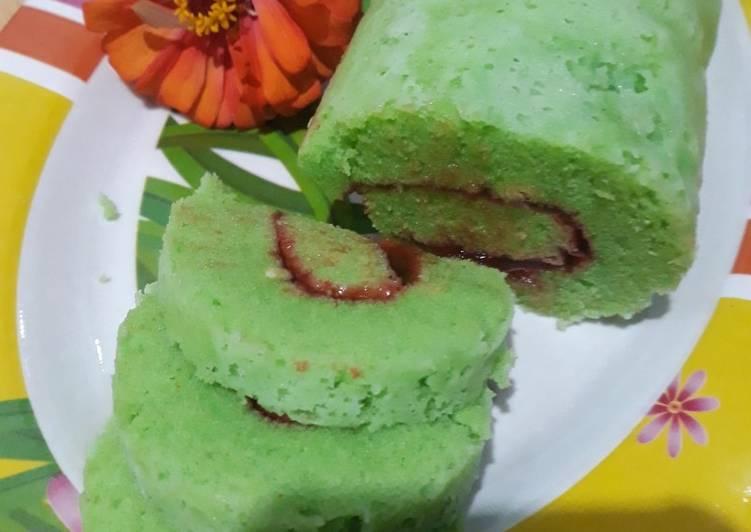 Bolu gulung pandan kukus - cookandrecipe.com