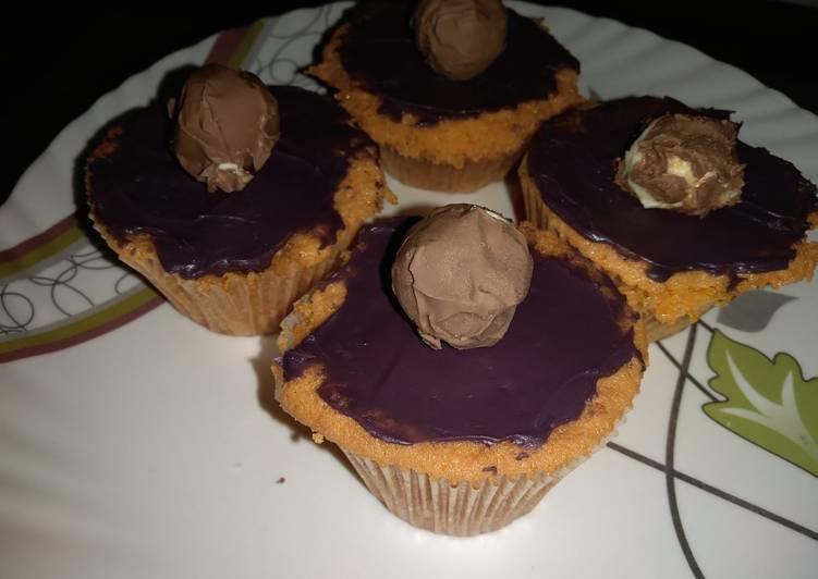 Orange muffins with chocolate ganache#valentines recipe