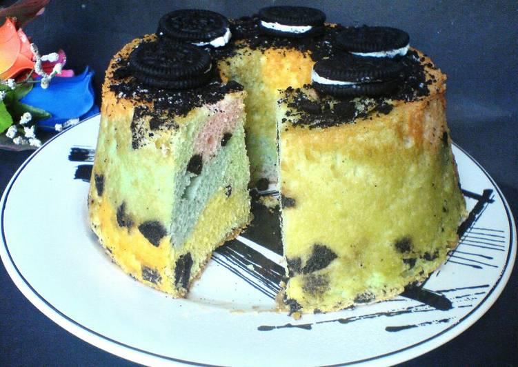 Unicorn Oreo Classic Angel Chiffon Cake 3 bahan