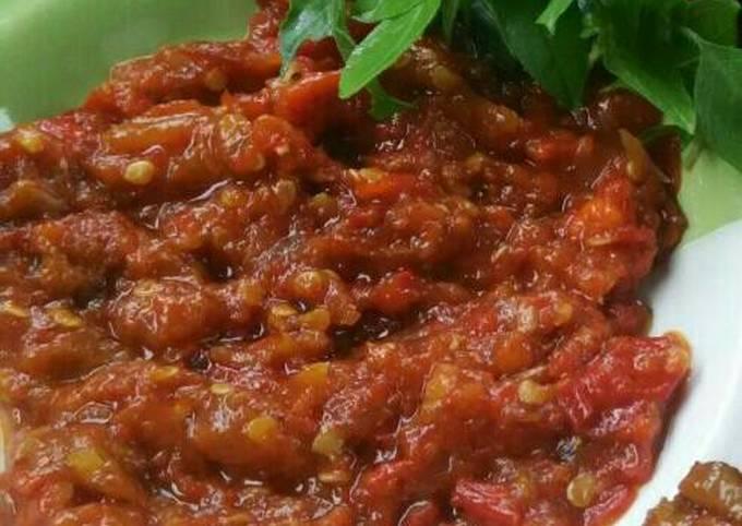 Resep Sambal bawang merah Sii Trias💓, Lezat