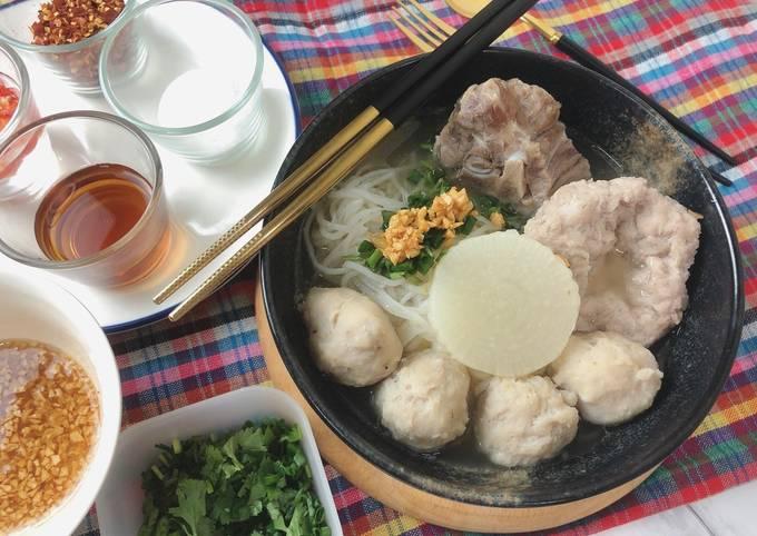 🧑🏽🍳🧑🏼🍳How To Make Thai Pork Noodle Soup • Thai Street Food |ThaiChef Food🧑🏽🍳🧑🏼🍳