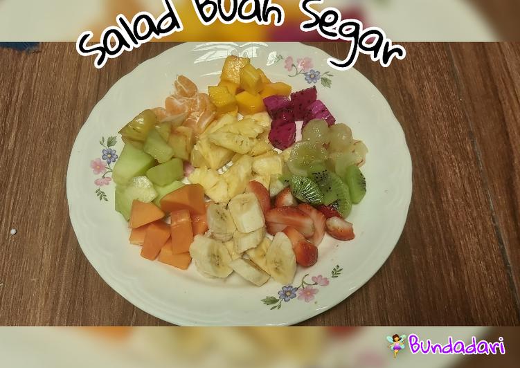 Salad Buah Segar (cemilan sehat) - cookandrecipe.com
