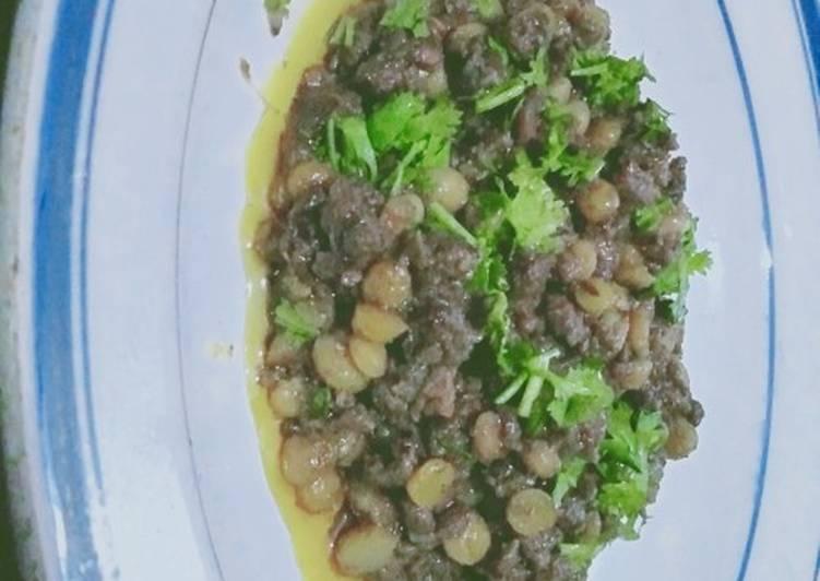 Gram pulses's Keema kebab
