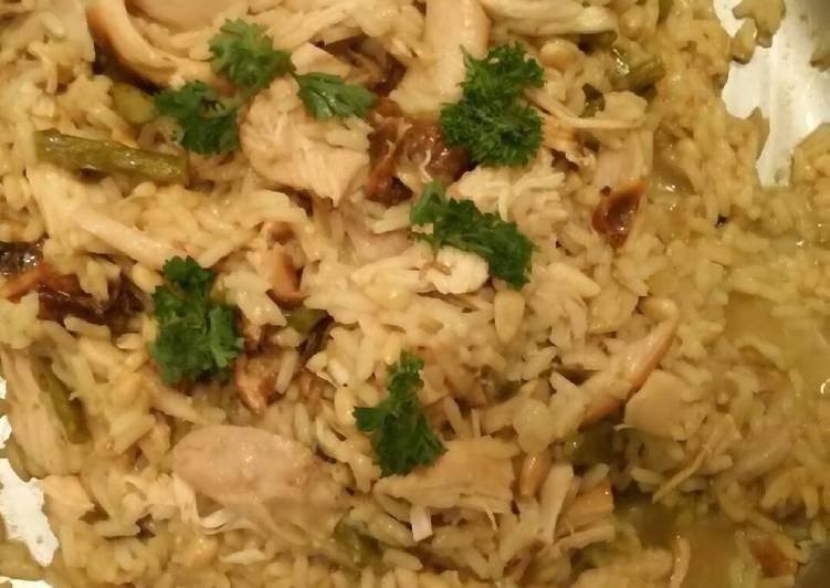 Recipe of Homemade Rotisserie chicken and yellow rice