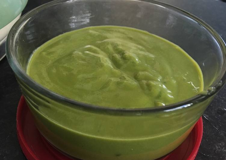 Potato, carrot & spinach baby food