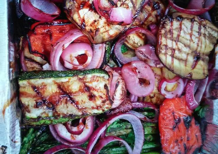 Easiest Way to Make Yummy Grilled vegetables with infused Olive Oil and Balsamic glaze