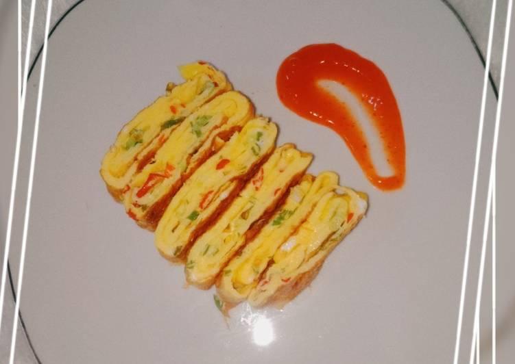 Resep Telur dadar gulung ala gyeranmari/tamagoyaki Terenak