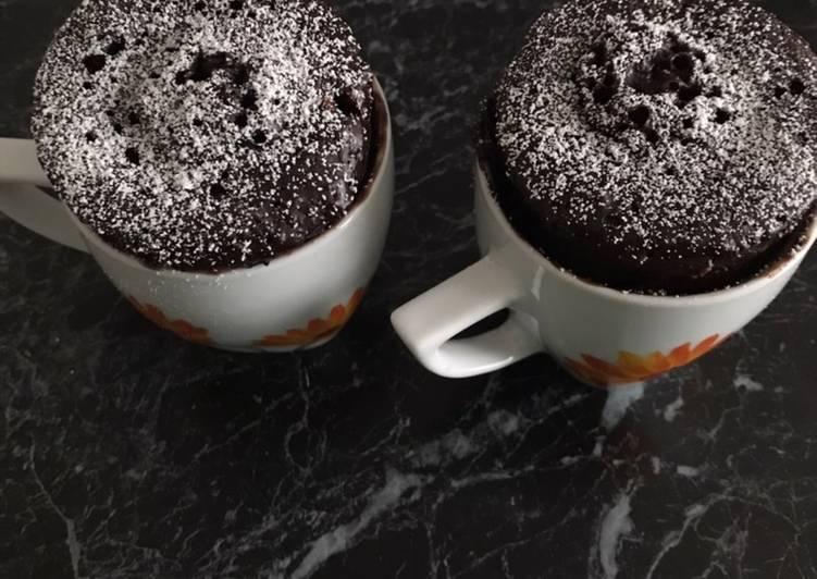 Mug cake choco noisettes