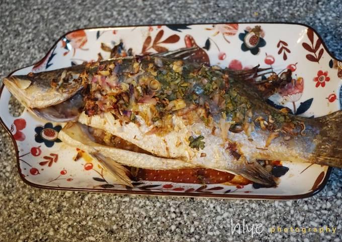 Cara Gampang Membuat Bakar ikan Siakap cara Thai: Aroma wanginya tidak dapat tertahan yang Menggugah Selera