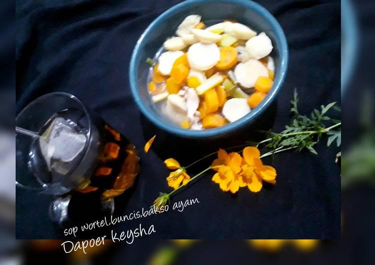 💜sop wortel,buncis,bakso ayam💜